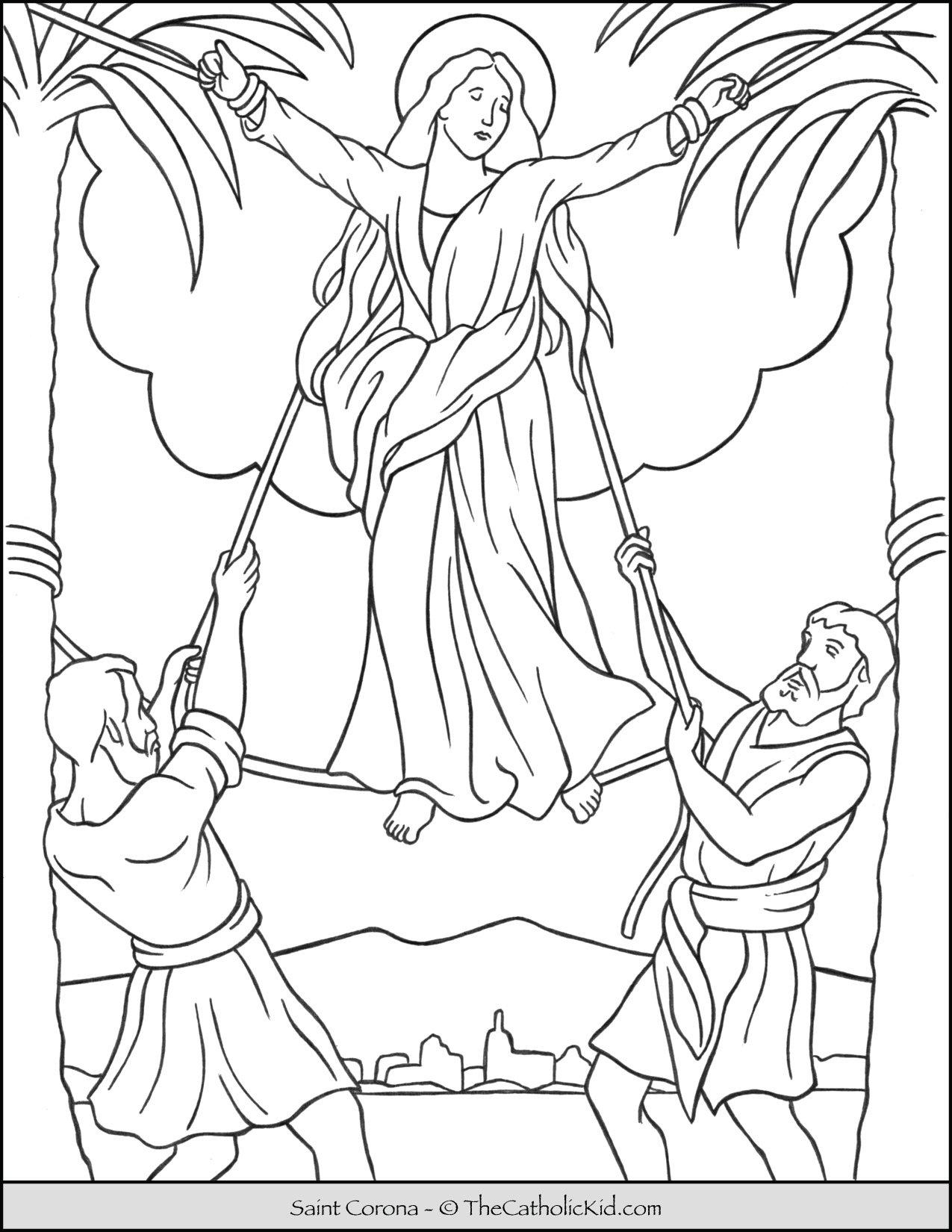 Saint Corona Coloring Page