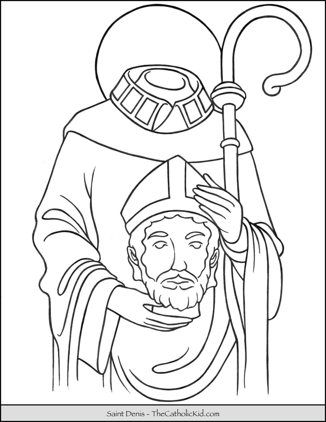Saint Denis Coloring Page