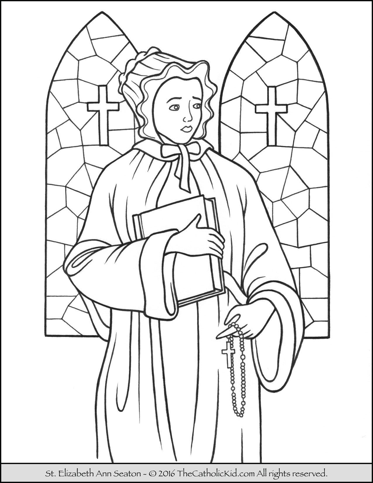 Saint Elizabeth Ann Seaton Coloring Page