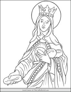 Saint Emma Coloring Page