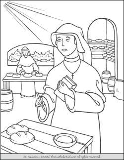 Saint Faustina Coloring Page