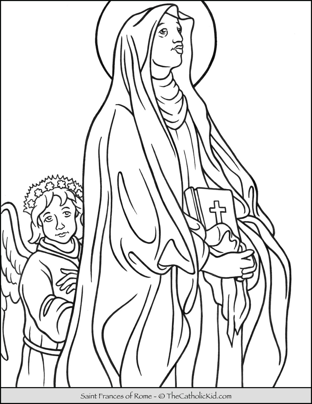 Saint Frances of Rome Coloring Page