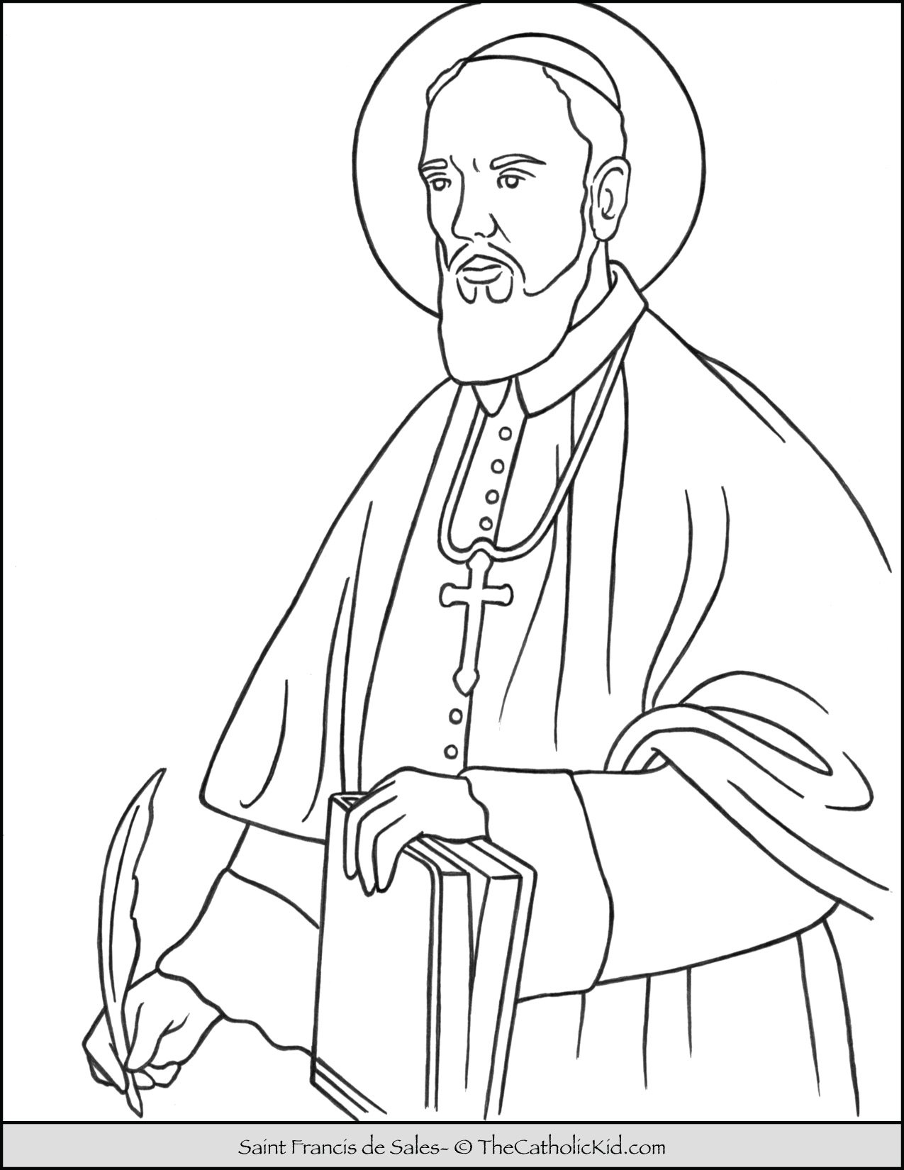 Saint Francis de Sales Coloring Page