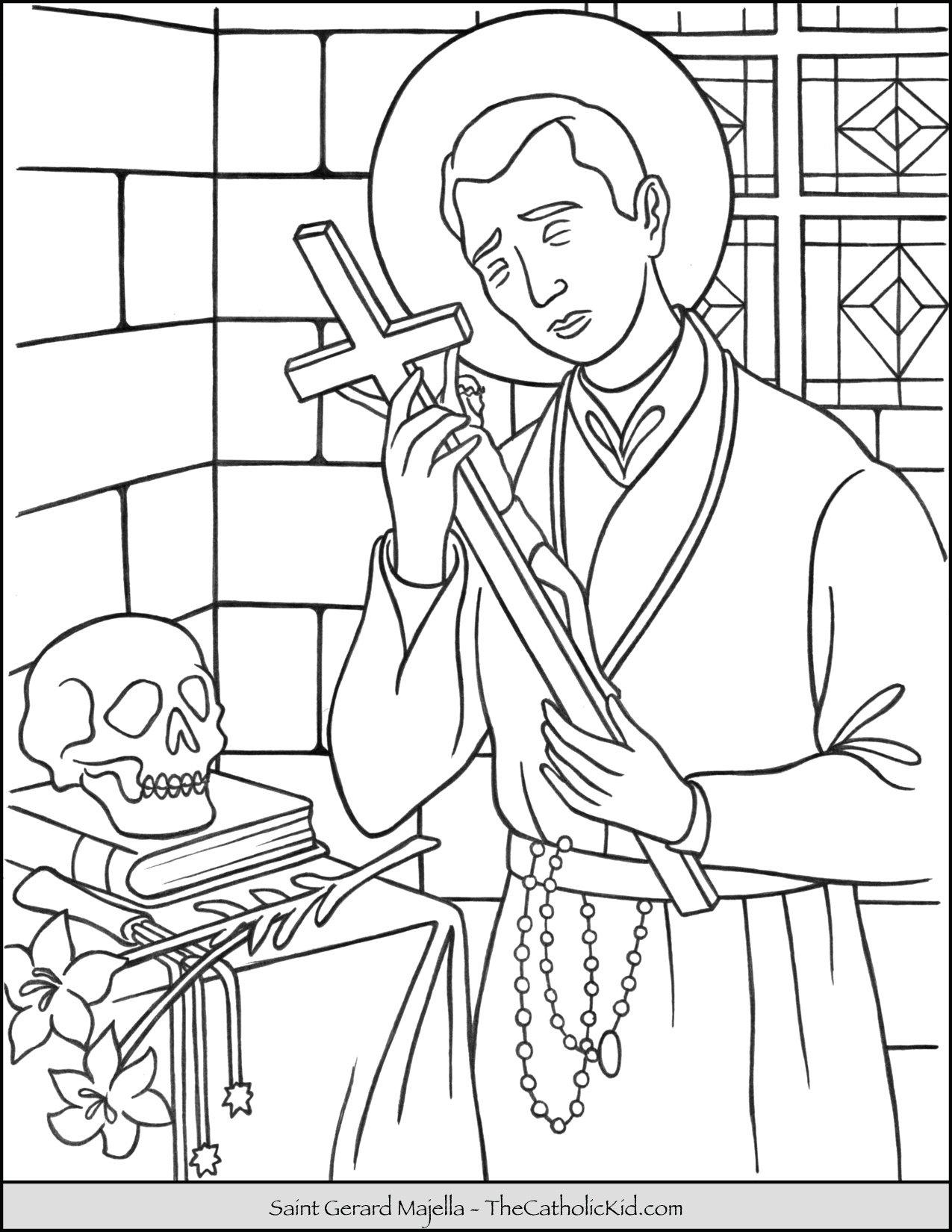 Saint Gerard Majella Coloring Page