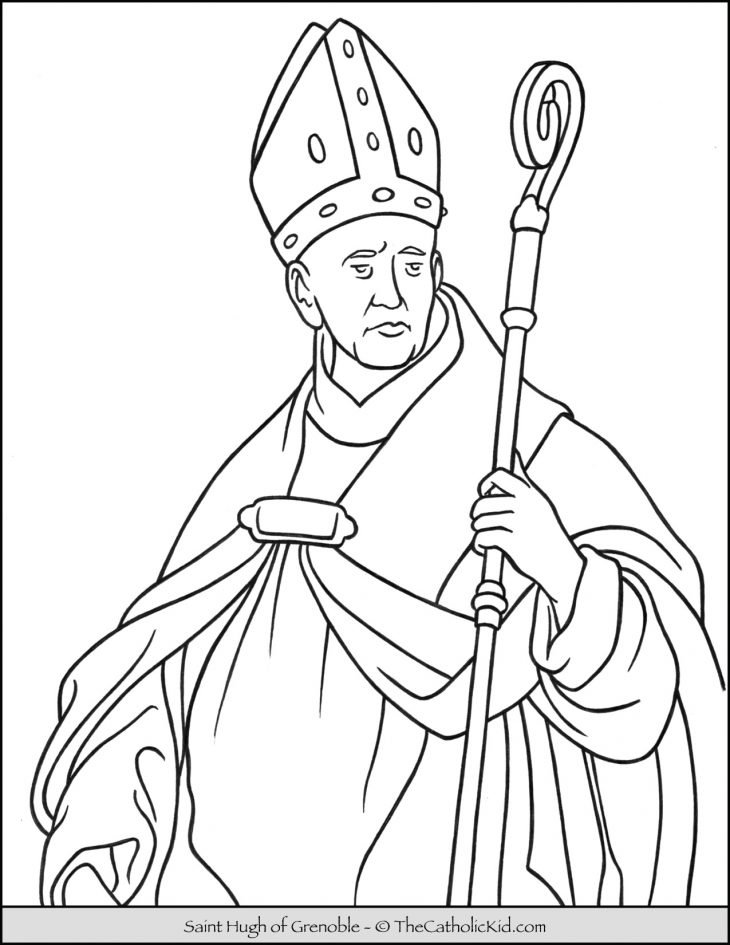 Saint Hugh of Grenoble Coloring Page