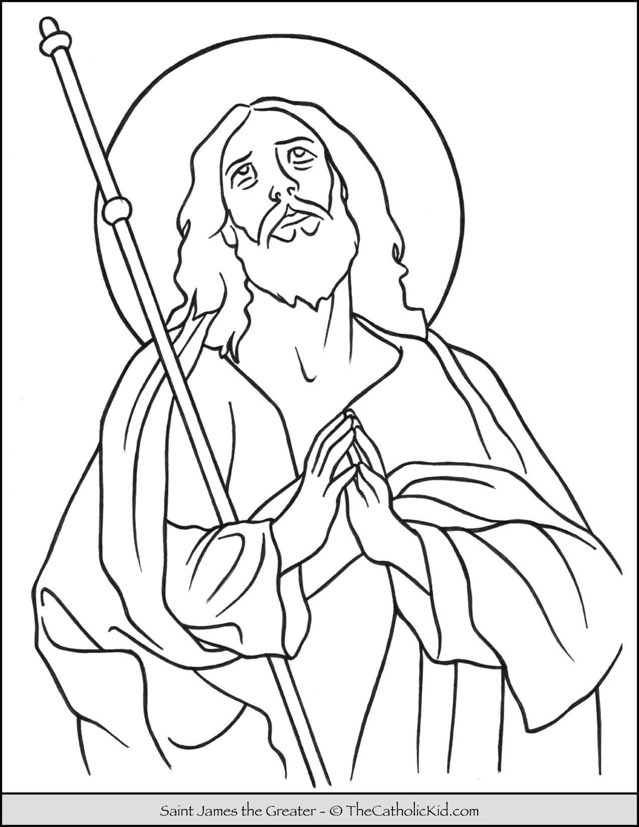 Saint James the Greater Coloring Page