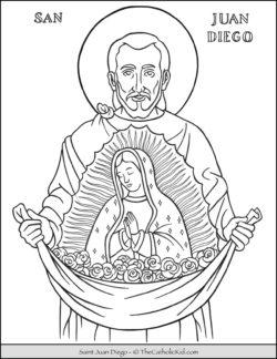 Saint Jaun Diego Coloring Page