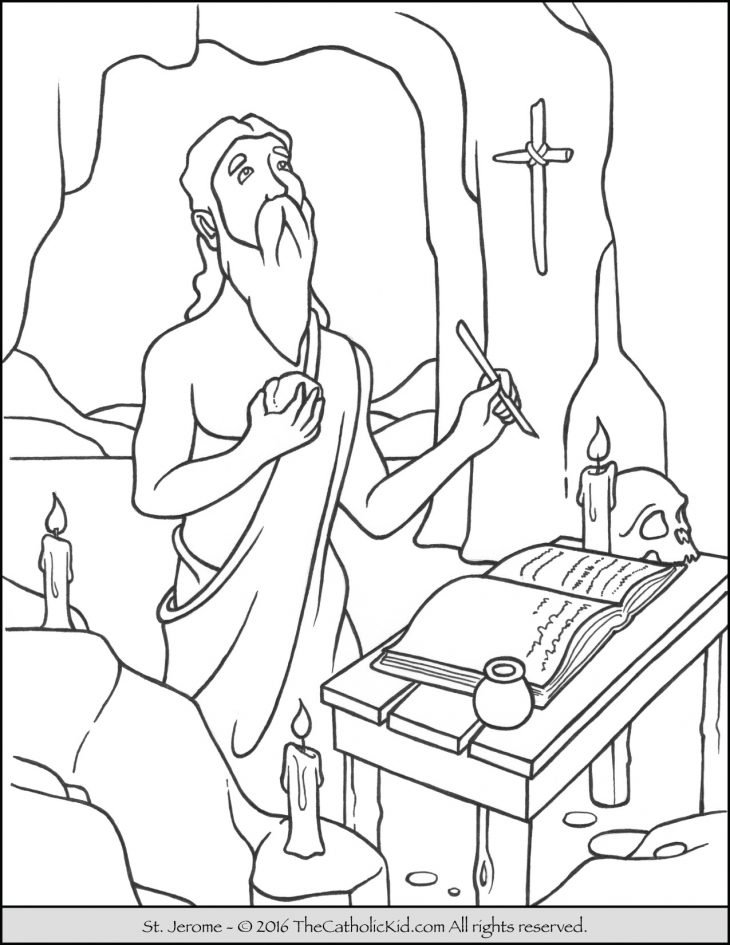 Saint Jerome Coloring Page