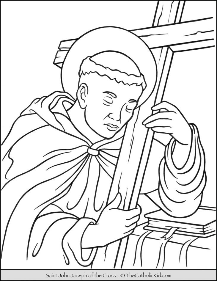 Saint John Joseph of the Cross Coloring Page