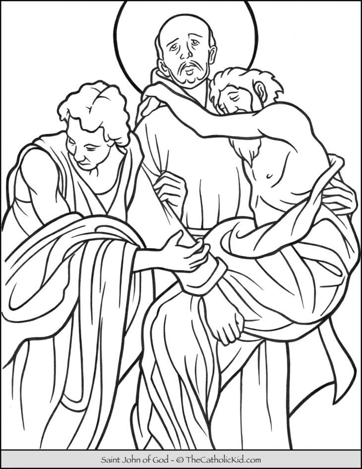 Saint John of God Coloring Page