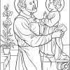 Saint Joseph & Jesus Coloring Page