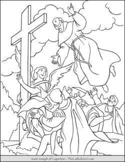 Saint Joseph of Cupertino Coloring Page