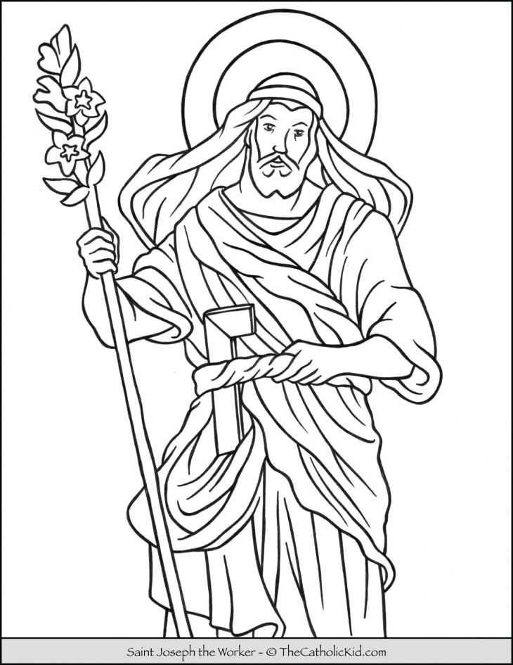 Saint Joseph the Worker Coloring Page