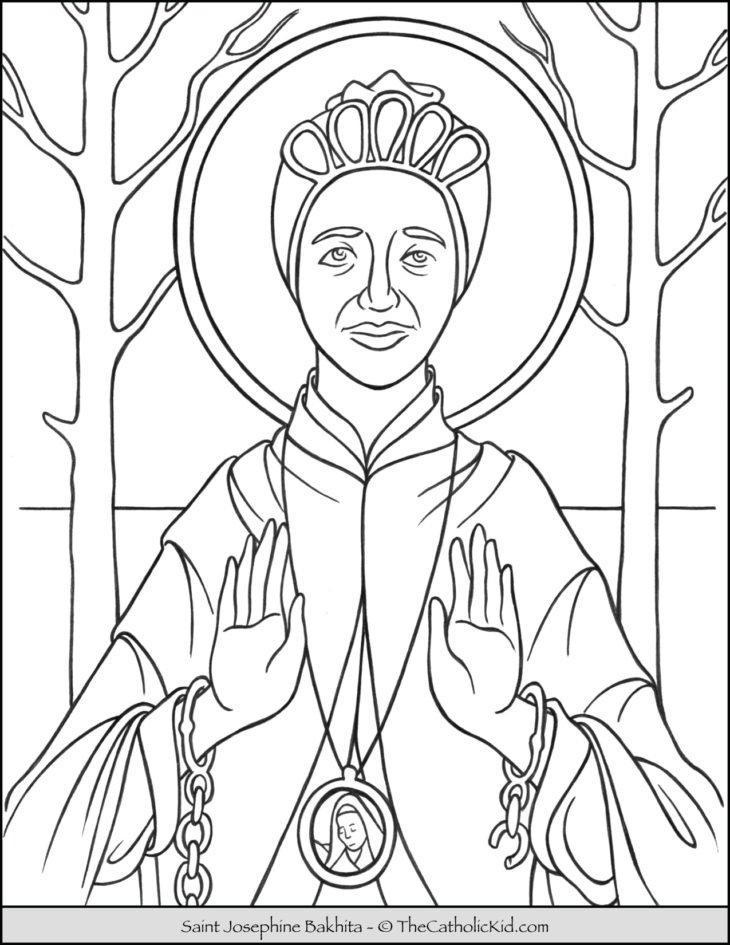 Saint Josephine Bakhita Coloring Page