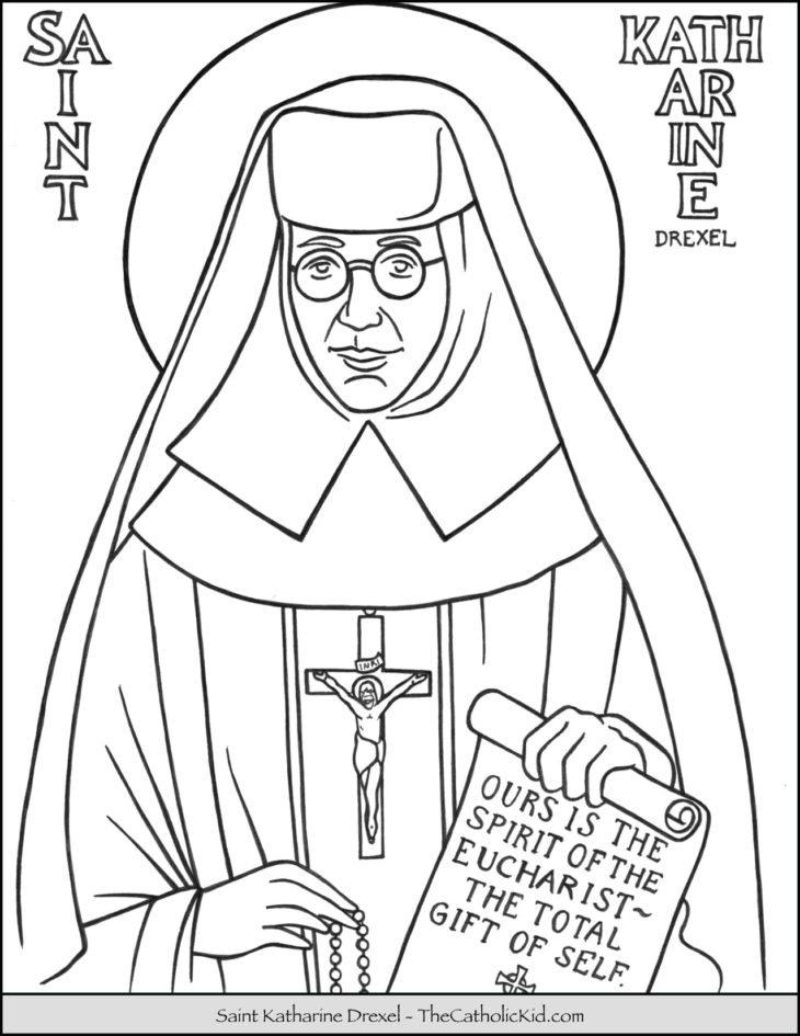 Saint Katharine Drexel Coloring Page