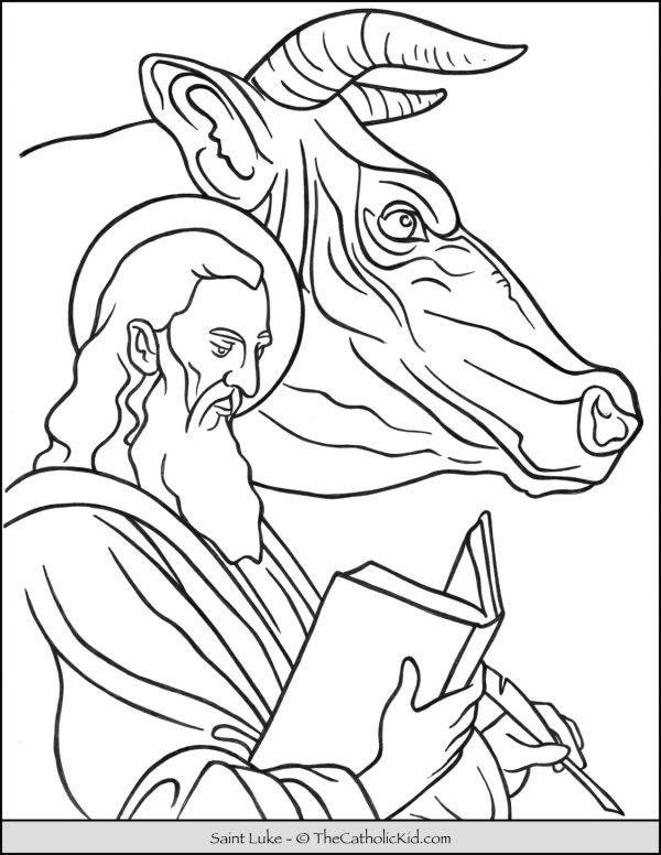 Saint Luke Bull Ox Coloring Page