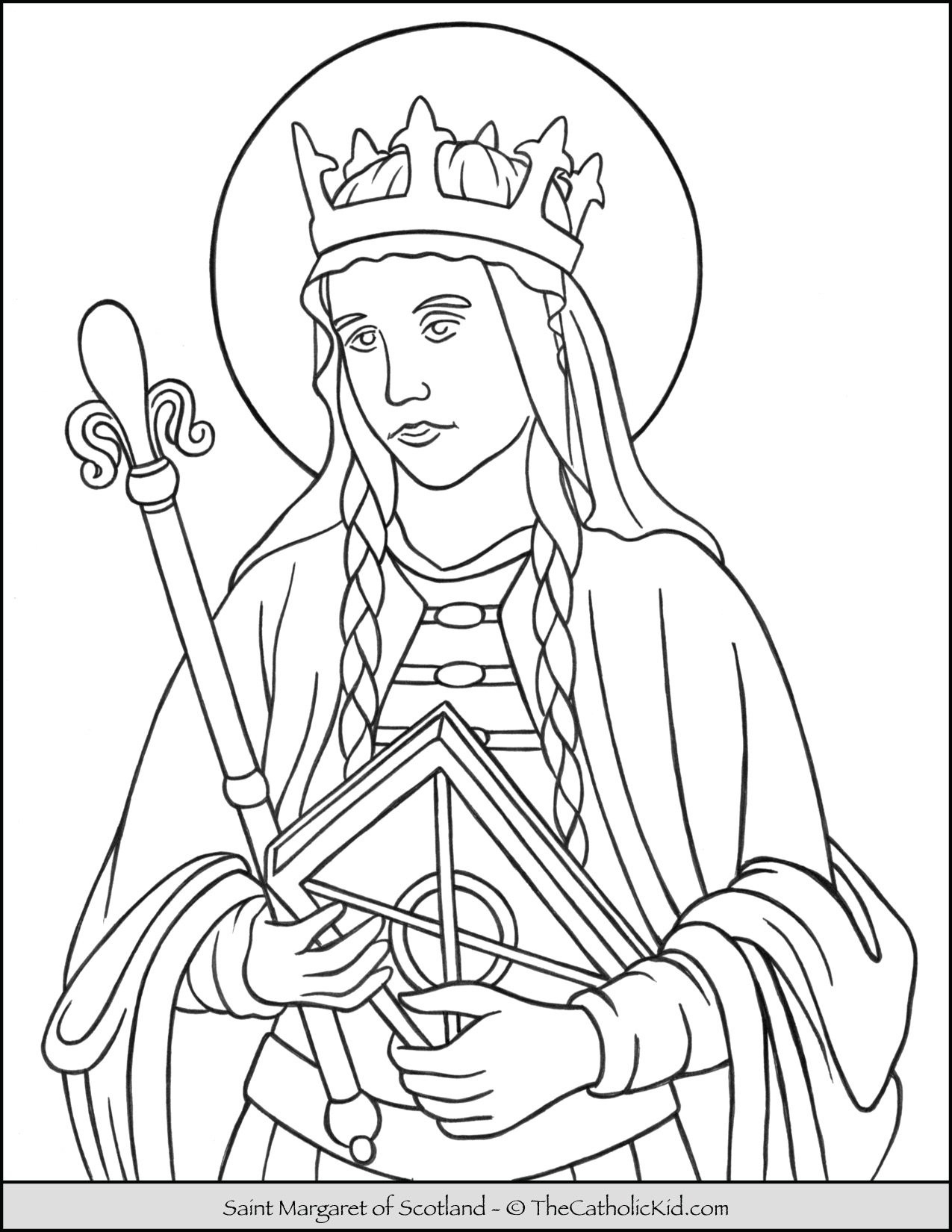 Saint Margaret of Scotland Coloring Page