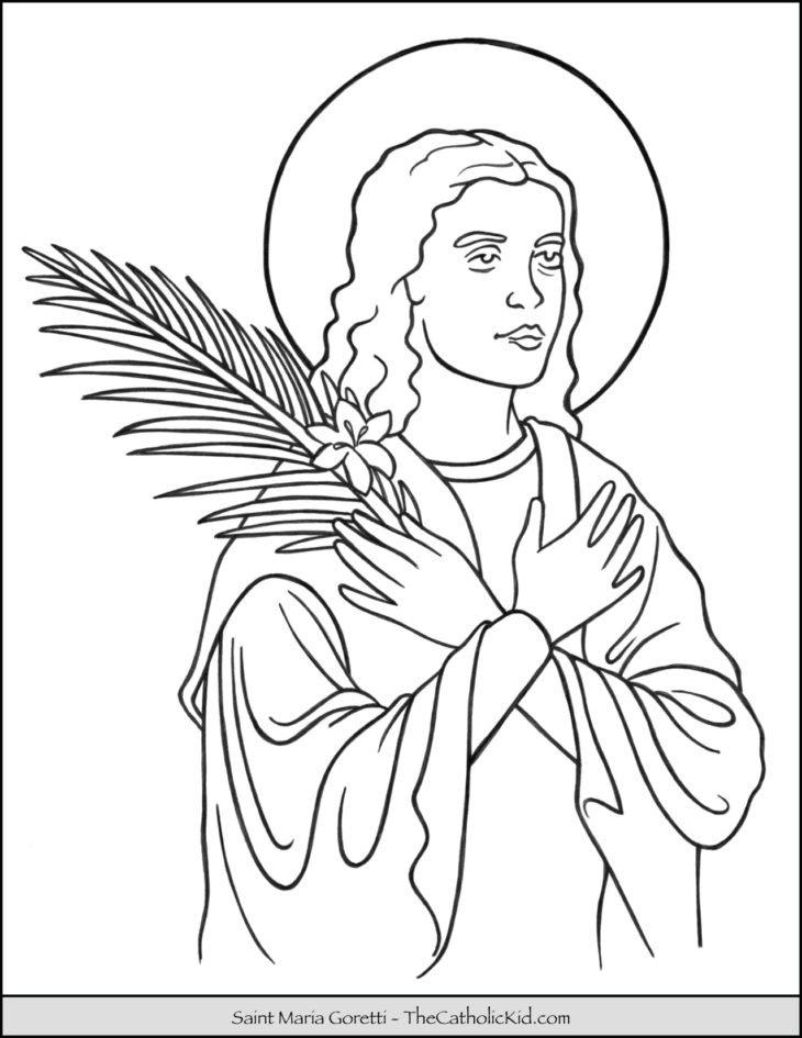 Saint Maria Goretti Coloring Page