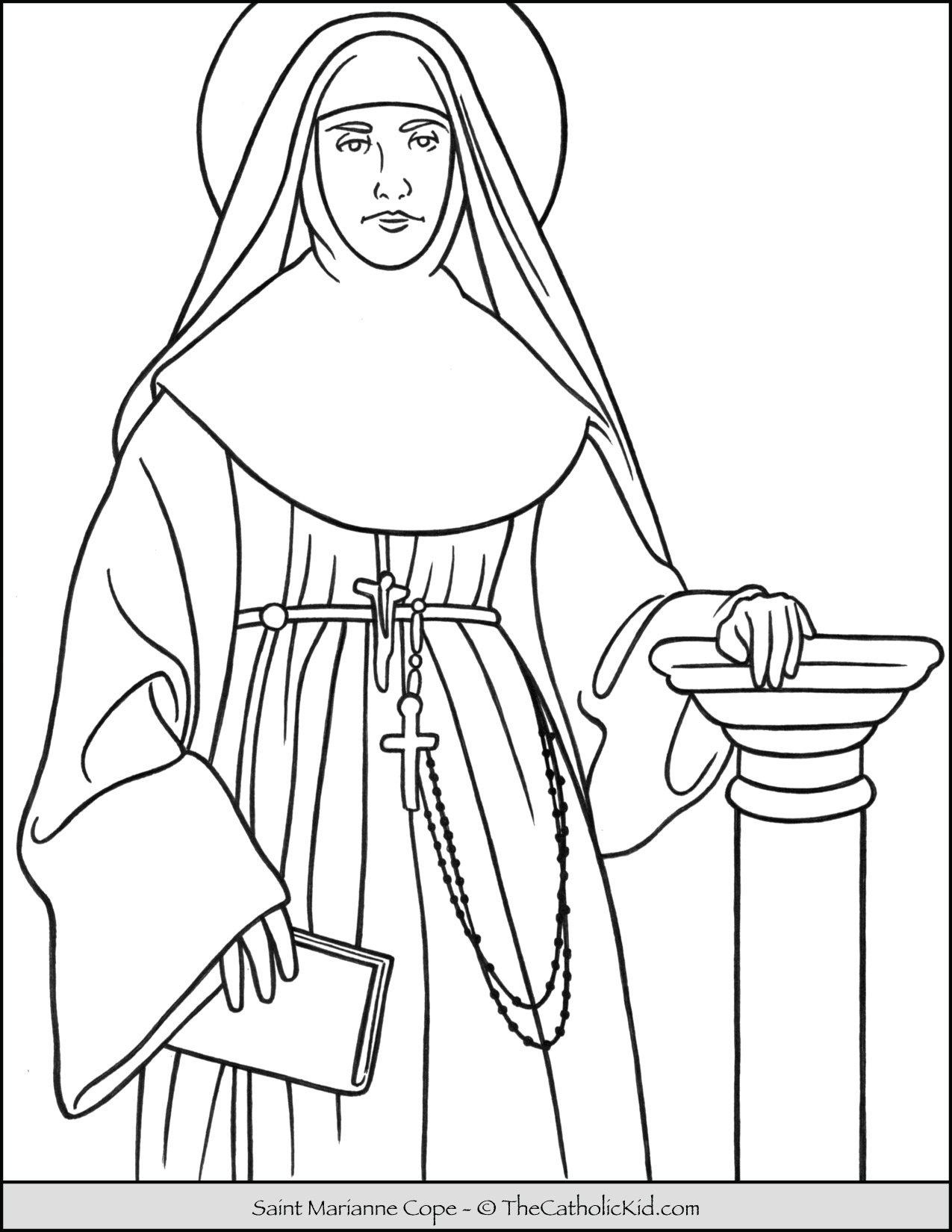 Saint Marianne Cope Coloring Page
