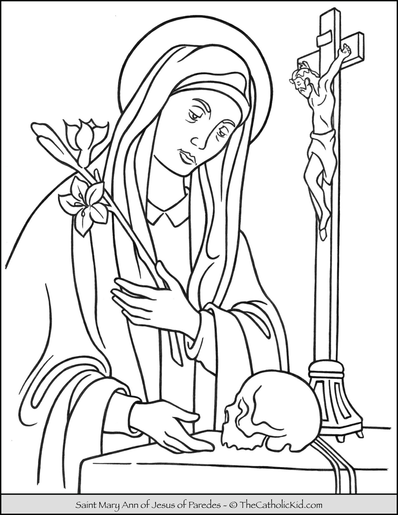 Saint Mary Ann of Jesus of Paredes Coloring Page