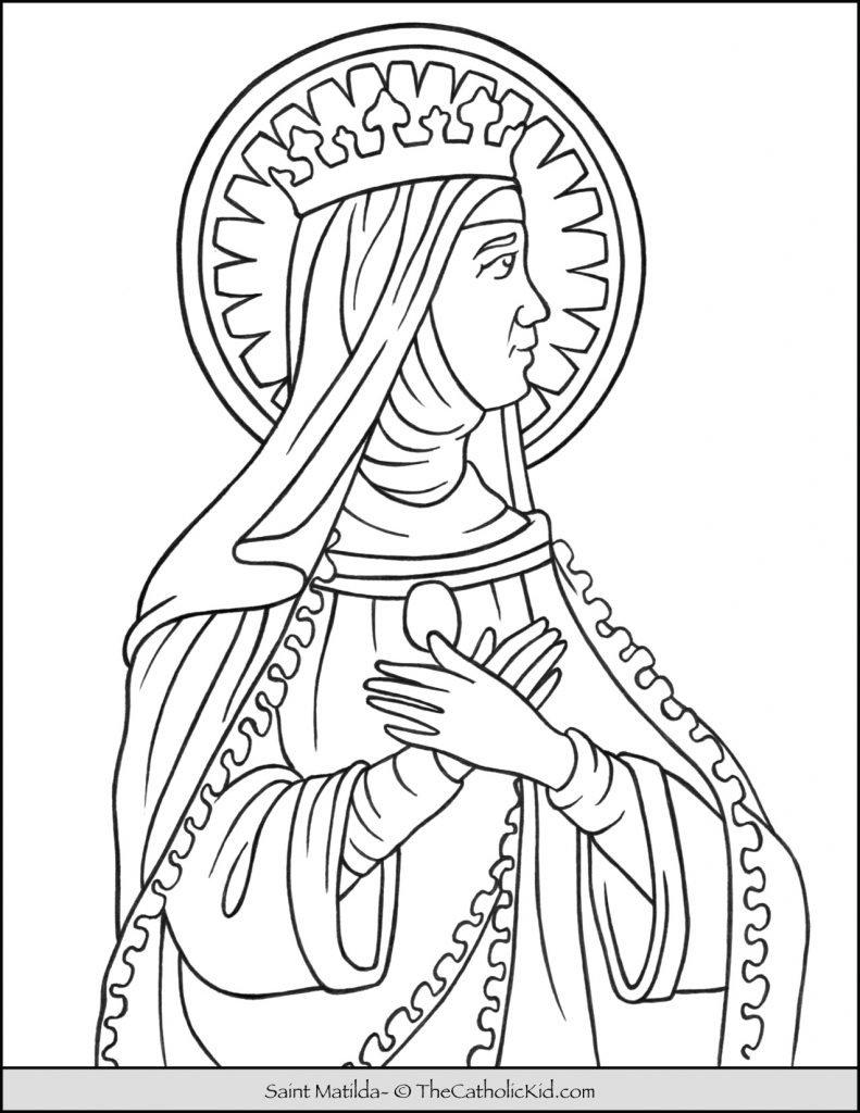 Saint Matilda Coloring Page