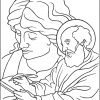 Saint Matthew Winged Man Angel Coloring Page