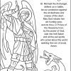 Saint Michael Prayer Coloring Page