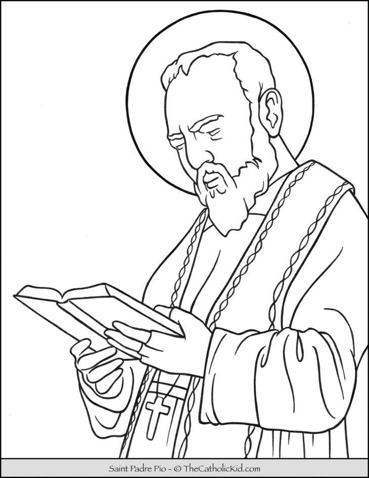 Saint Padre Pio Coloring Page 2