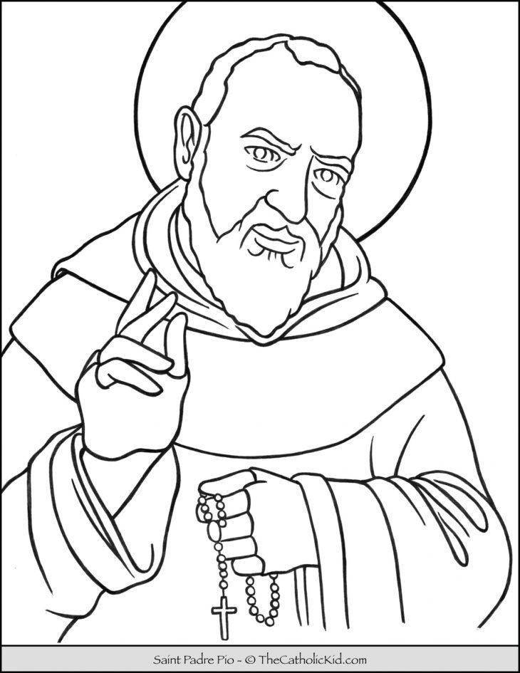 Saint Padre Pio Coloring Page 3