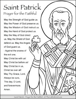 Saint Patrick Prayer Coloring Page