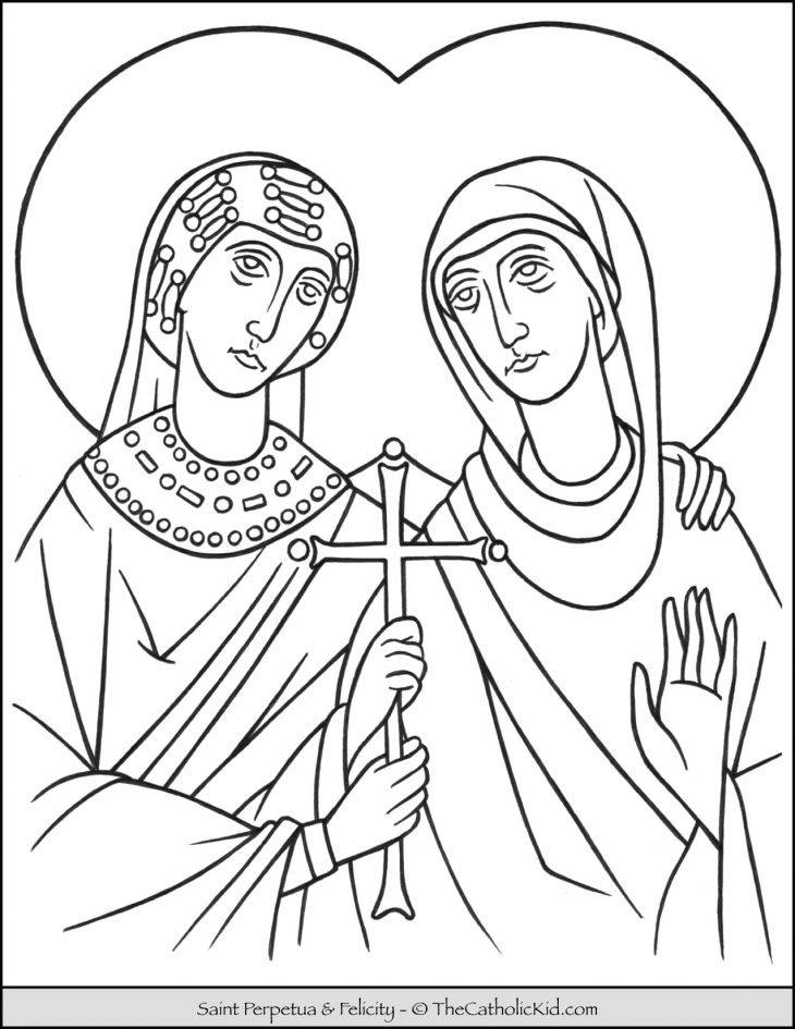 Saint Perpetua and Felicity Coloring Page
