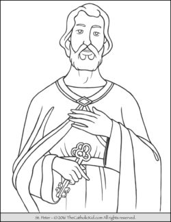 Saint Peter Coloring Page
