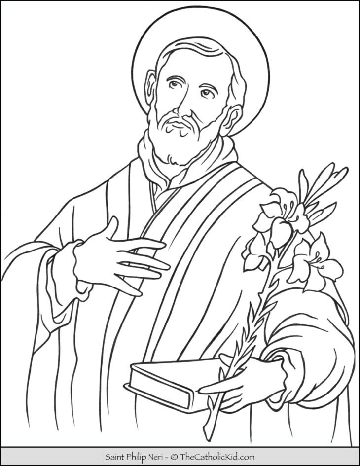 Saint Philip Neri Coloring Page