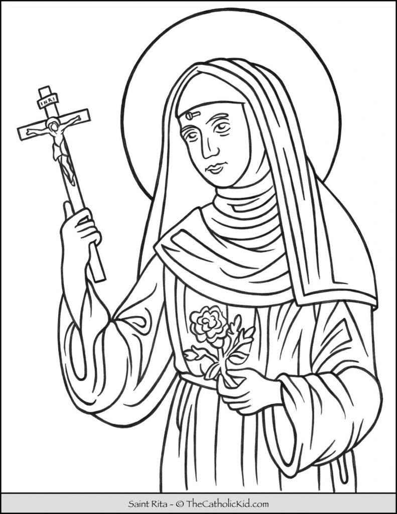 Saint Rita Coloring Page