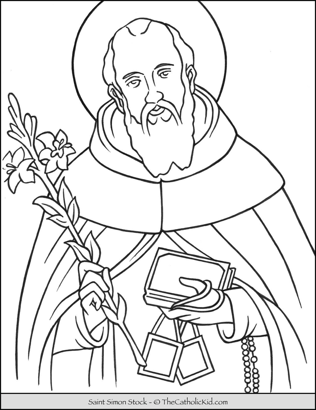 Saint Simon Stock Coloring Page