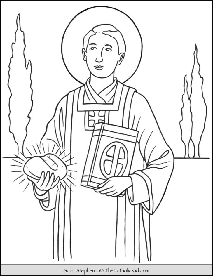 Saint Stephen Coloring Page