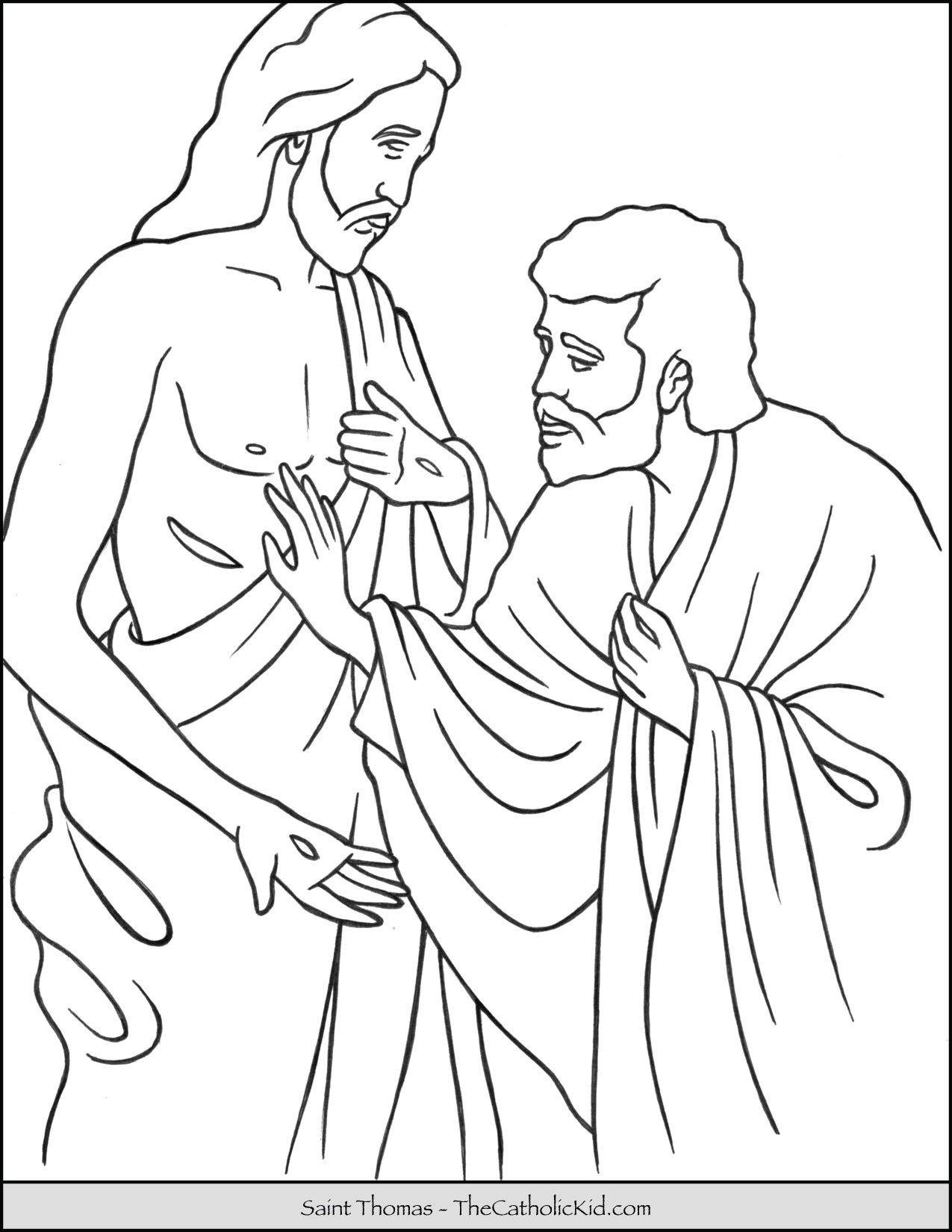 Saint Thomas Coloring Page Thecatholickid Com