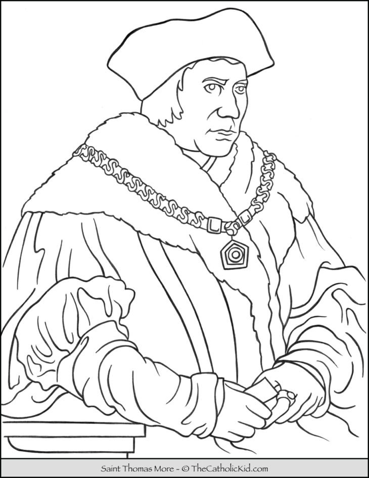 Saint Thomas More Coloring Page