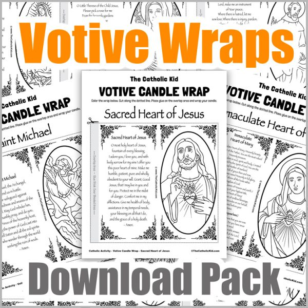Votive Candle Wraps Coloring Page - Download Pack